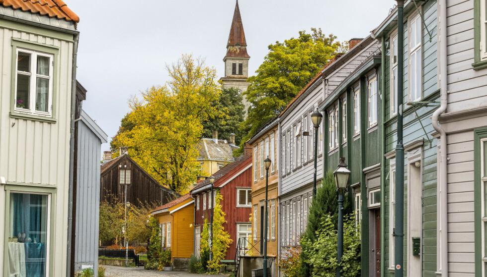 Bakklandet i Trondheim er bebyggelsen langs østsida av Nidelva. Foto: Gorm Kallestad/NTB