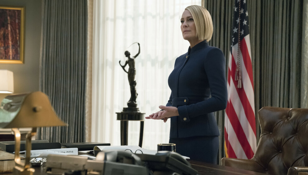 Robin Wright i serien House of Cards. Foto: Netflix AP NTB