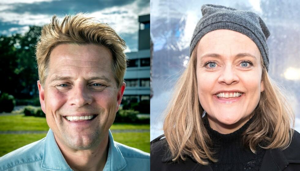 <strong>FORBILDER:</strong> Robert Stoltenberg og Henriette Steenstrup har nylig fortalt offentlig om sine hørselsproblemer. Foto: Bjørn Langsem / Dagbladet og Andreas Fadum