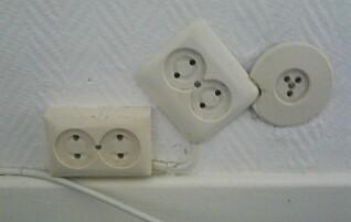 – Her har noen åpenbart tenkt at de ikke trenger elektriker