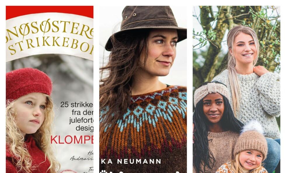 Nostalgi, moderne klassikere og røff friluftsstrikk. Vinterens fineste strikkebøker byr på noe for enhver stil. SFoto: Forlagene