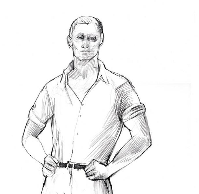 MUSKULØS: Johannes Kukk beskrives som en muskuløs mann. Han sleit med krigstraumer etter å ha opplevd bombing på sjøen under 2. verdenskrig. Foto: NRK