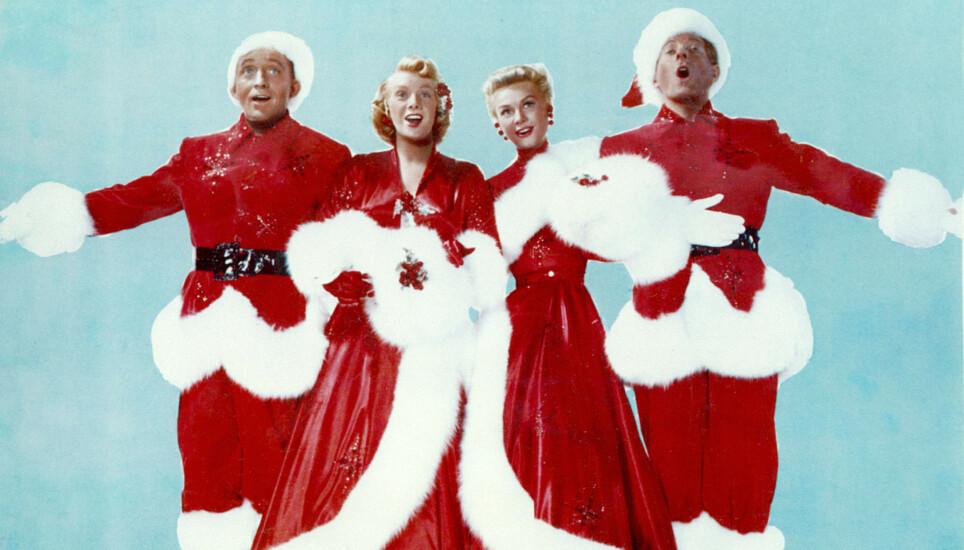 AMERIKANSK JUL: Irving Berlins «White Christmas» var tittellåta i musikalfilmen med samme navn. Bing Crosby, Rosemary Clooney, Vera Ellen og Danny Kaye spilte hovedrollene i filmen. Foto: Moviestore/REX/NTB