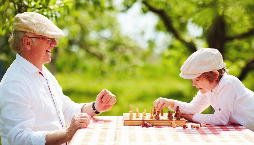 HJERNETRIM: Spill som sjakk, kryssord og sudoku er kjent hjernetrim. Men også hverdagsaktiviteter som å gå på butikken kan brukes til å trene hjernen. Illustrasjonsfoto: Shutterstock/NTB