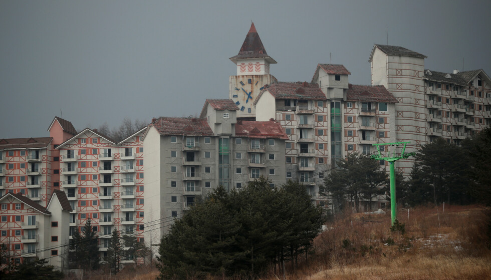 """Abandoned Alps Ski Resort is seen near the demilitarised zone separating the two Koreas in Goseong, South Korea, January 16, 2018. REUTERS/Kim Hong-Ji      SEARCH """"KOREA ALPS"""" FOR THIS STORY. SEARCH """"WIDER IMAGE"""" FOR ALL STORIES."""