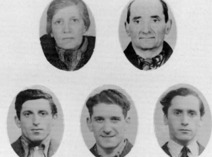 ID-PORTRETTER: Portrettene av Sara, Benzel, Isak, Charles og Harry ble antageligvis tatt i forbindelse med J-stemplingen i januar 1942. Da hadde datteren Helene allerede kommet seg over til Sverige. FOTO: Gjengitt med tillatelse fra Harry Braude // Jødisk Museum i Oslo