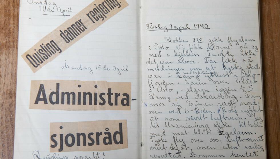 HISTORISK: Ullas dagbøker er et stykke Norgeshistorie. Foto: Ellen Jarli