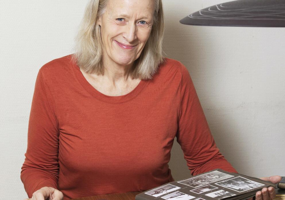 INTERESSANT: Datteren til Ulla, Gabrielle Welle-Strand, har funnet mye interessant stoff i dagbøkene moren hennes skrev fra krigen. Gabrielle håper det kan bli bok av dette en gang.