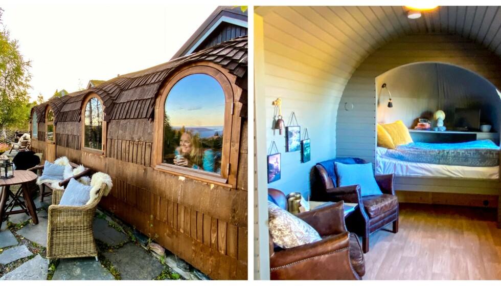 KONGLEHYTTA: Vi får litt hobbitfølelse av denne lille, sjarmerende hytta! Foto: Torild Moland