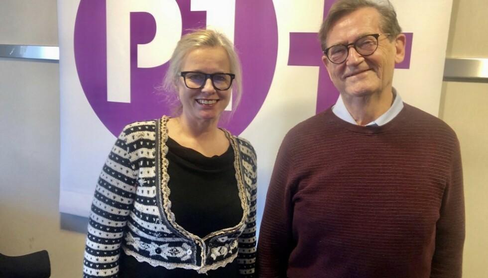SEX FOR VOKSNE: Programleder Hege Holm sier det var lite å finne om sex og samliv for godt voksne i podkastverden. Det har hun og podkast-makker, sexolog og psykiater Haakon Aars gjort noe med. I podkasten snakker de om temaene du lurer på. Foto: Privat