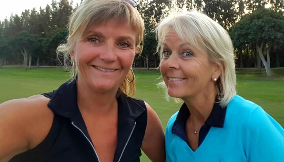 NYE VENNSKAP: Gjennom golfspillingen klarte Eva å skape seg et sosialt nettverk. Her sammen med venninnen Karin. FOTO: Privat