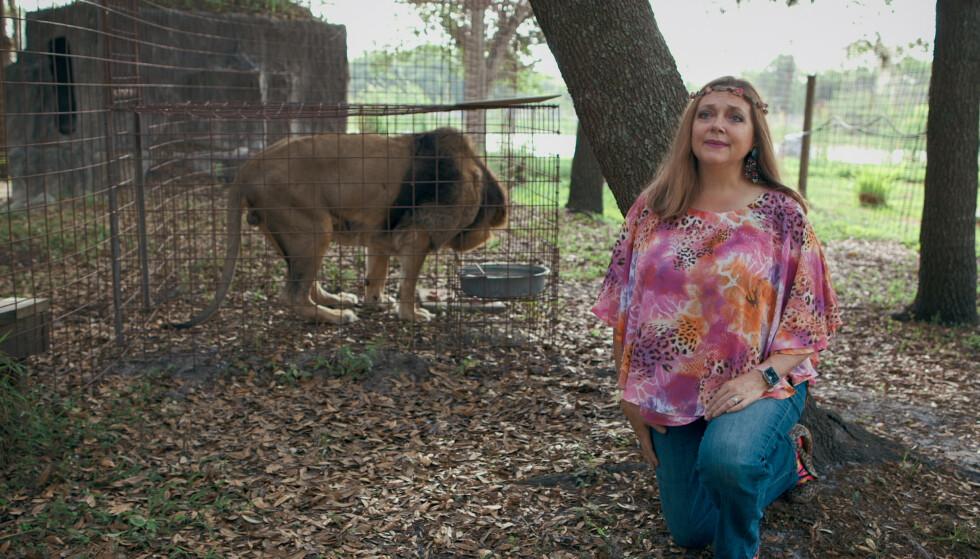 Fiende: Carole Baskin er en dyreverner som Joe ikke kan fordra. Hatet er i aller høyeste grad gjensidig. Foto: NTB