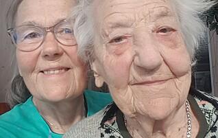 Da Åsbjørg ble pensjonist, hentet hun mor (105) hjem fra sykehjemmet