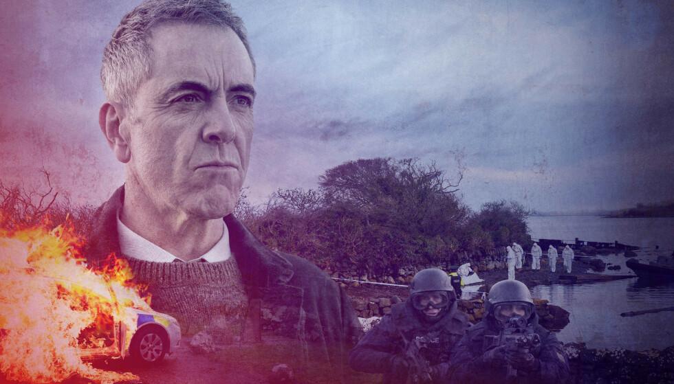 GAMLE SÅR: En sak har stor betydning for etterforsker Tom Brannick, som spilles av James Nesbitt. Foto: TV 2