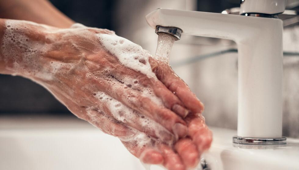 SLURVER MED Å VASKE HENDENE: 500 000 nordmenn vasker ikke hendene etter å ha vært på do, ifølge en fersk undersøkelse. - At så mange fremdeles ikke er nøye med håndvask, overrasker meg, sier fagsjef i apoteket Farmasiet.