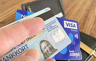 Legitimasjon på bankkort forsvinner