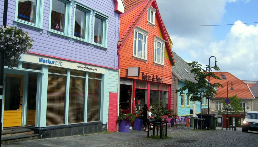 Øvre Holmegate i Stavanger er kjent som Fargegata. Foto: Vidar Knai/NTB