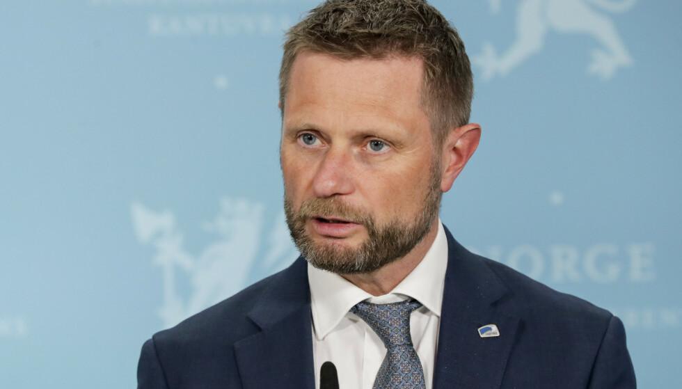 NYE RÅD: Helse- og omsorgsminister Bent Høie har kommet med nye råd til fullvaksinerte i dag. Foto: Berit Roald NTB