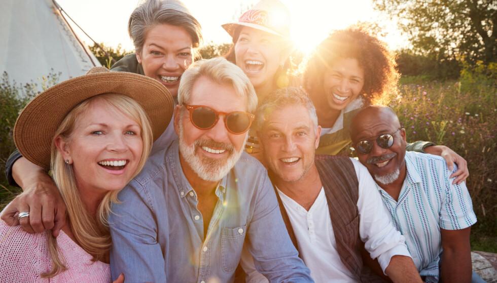 PÅ PLASS I LIVET: Når vi er mellom 50 og 60 år er vi mer trygge på oss selv etter å ha høstet av livets erfaringer. Foto: Shutterstock NTB