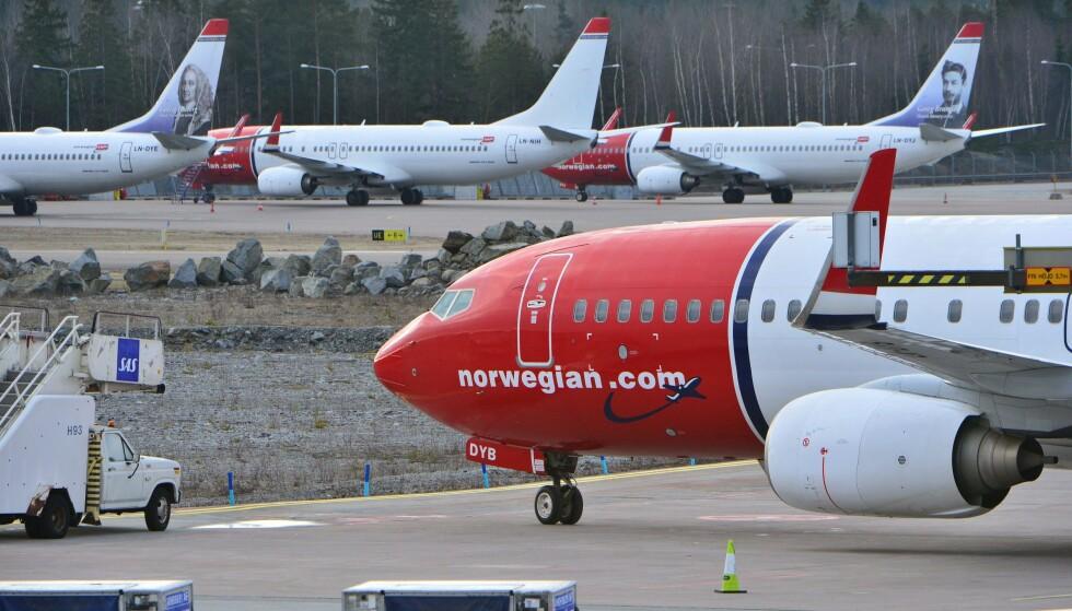 NORWEGIAN-«FORSIKRING»? - Dersom du har en vanlig reiseforsikring, eller betaler med et kort med innebygd avbestillingsdekning eller forsikring, så er det helt unødvendig å kjøpe noe ekstra hos flyselskapet, sier Pia Høst i Forbrukerrådet. De har fått flere henvendelser om Norwegians «avbestillingsbeskyttelse». Foto: AFP/NTB scanpix