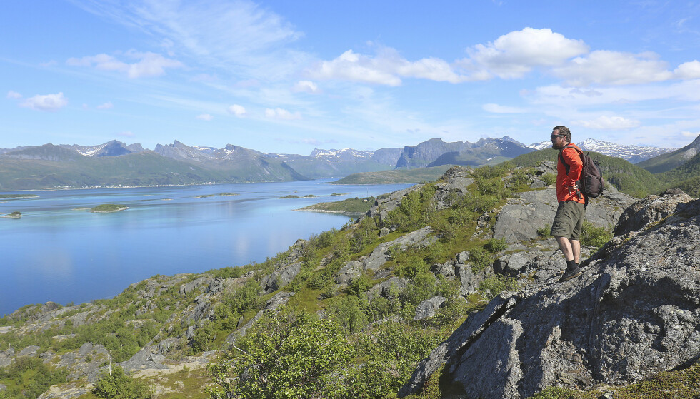Kombinasjonen av fjord og fjell er noe av det som kjennetegner Norge, og få steder er det mer tydelig enn på Senja. Foto: Runar Larsen/Magasinet Reiselyst