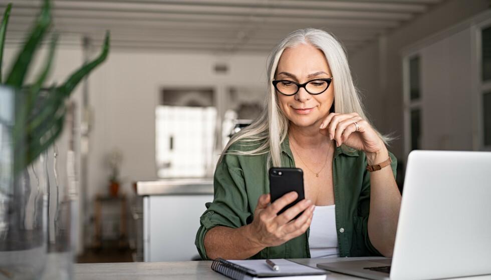 SPENNENDE DATING PÅ NETT: Hun har nettopp startet med å date på nett, men er usikker på fremgangsmåten. Foto: NTB Shutterstock