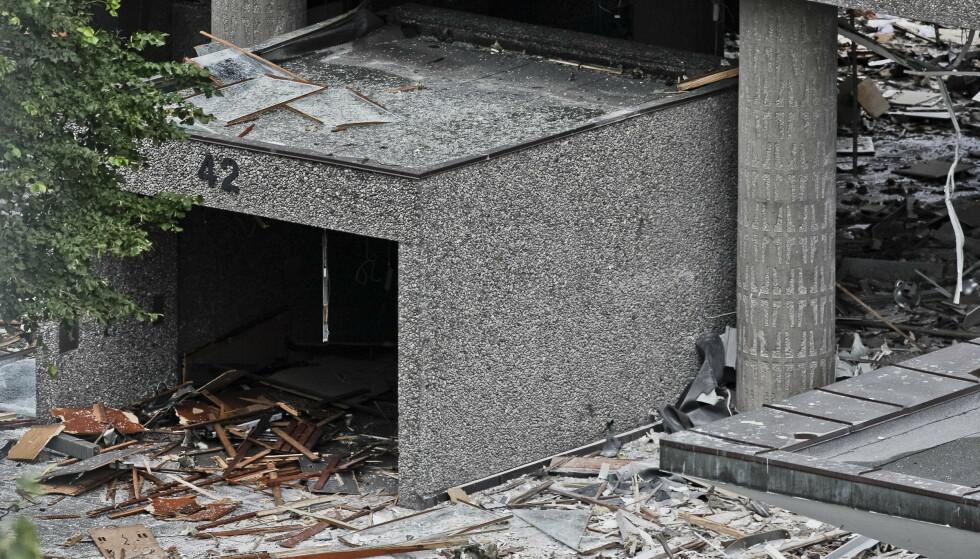 STORE ØDELEGGELSER: Hele regjeringskvartalet fikk store materielle skader etter bombeangrepet 22. juli 2011. Foto: NTB Scanpix