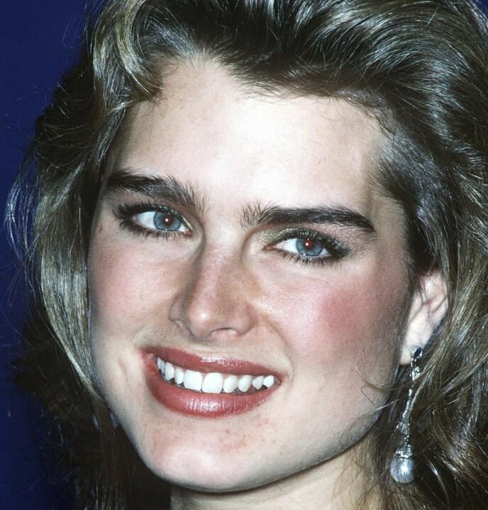 BROOKE SHIELDS: Hun begynte karrieren sin som både modell og skuespiller som barn, men i filmen «Den blå Lagune» fra 1980 ble hun for alvor et skjønnhetsideal. Foto: NTB