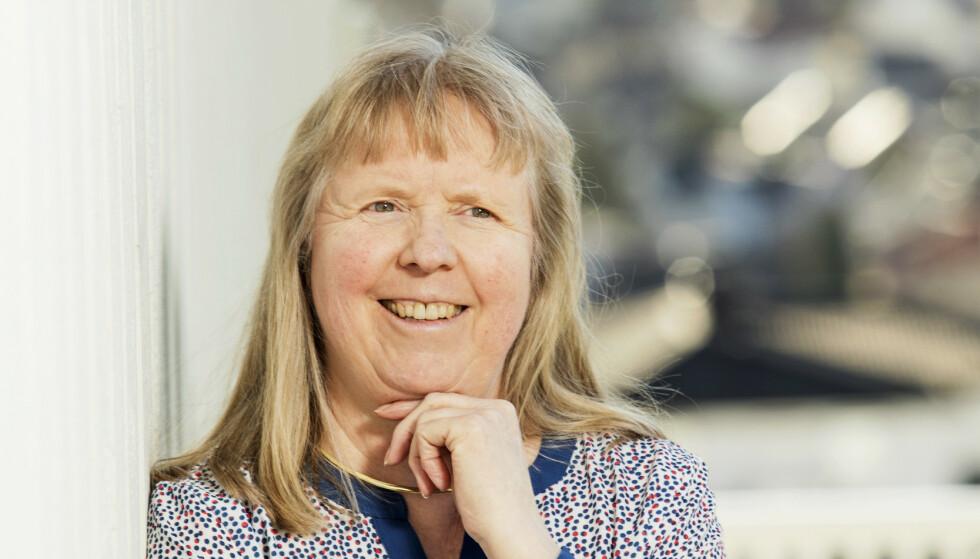 HELDIG: Kristin Skjønvoll fikk MS som 30-åring. Hun er takknemlig for at sykdommen er holdt noenlunde i sjakk og at den ikke har preget henne nevneverdig. Foto: Ellen Jarli