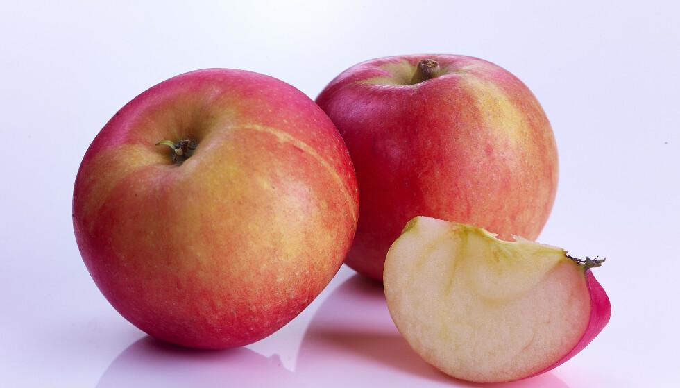 Eplesorten Discovery. Foto: Frukt.no