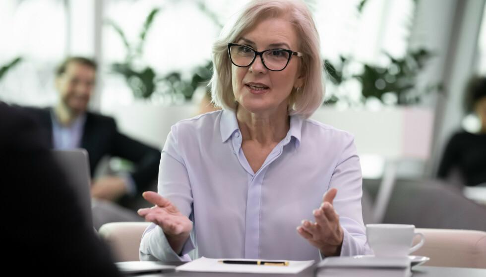 DISKRIMINERING I ARBEIDSLIVET: Det er forbud mot diskriminering på grunn av alder ved ansettelser til en ny jobb. I dette konkrete tilfellet var det en godt kvalifisert kvinne på 55 år som ikke ble innstilt til jobben. Illustrasjonsfoto: NTB