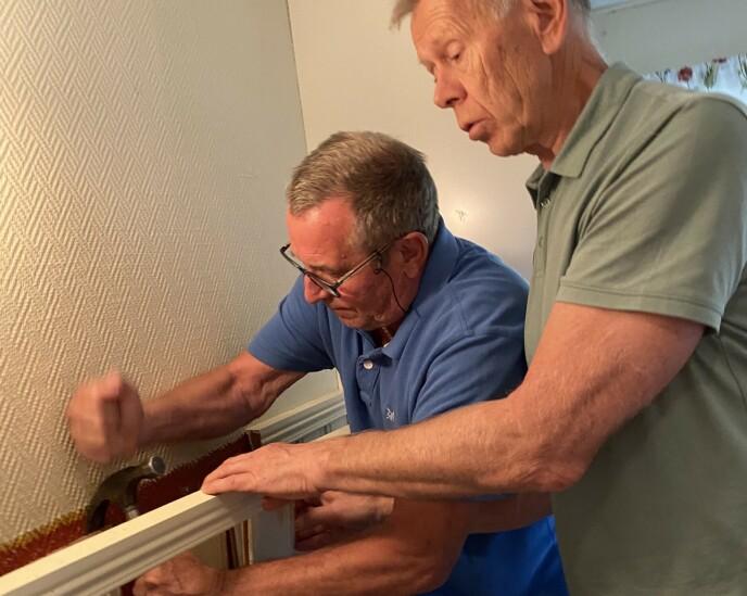 NEVENYTTIG: Både Espen Warp og Bjørn Laupsa-Borge har vært vant til å jobbe mye. Som pensjonister trives de med å gi seg i kast med nye prosjekter for Seniorene.