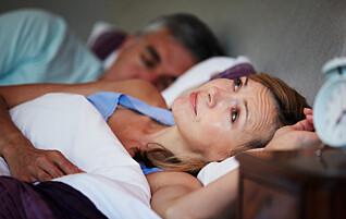 Søvnproblemene kan være tegn på overgangsalderen