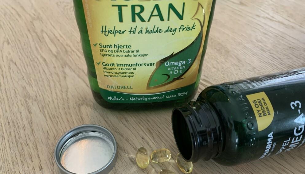 D-VITAMIN: I vinterhalvåret er det ekstra viktig å passe på D-vitamininntaket, enten gjennom D-vitaminholdige matvarer eller tilskudd. Foto: Berit B. Njarga