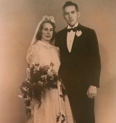 Image: Tungtvannsheltens fallskjerm ble Maries brudekjole