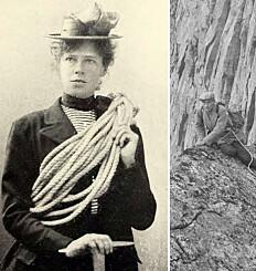 Image: På topptur med kjole, dress og spiker i skosålene
