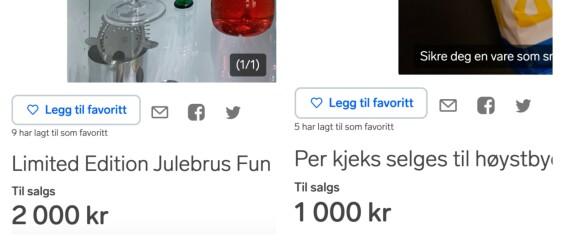 Image: Skal det være en kjekspakke til 500 kr eller en «bruktsaft» til 2000?
